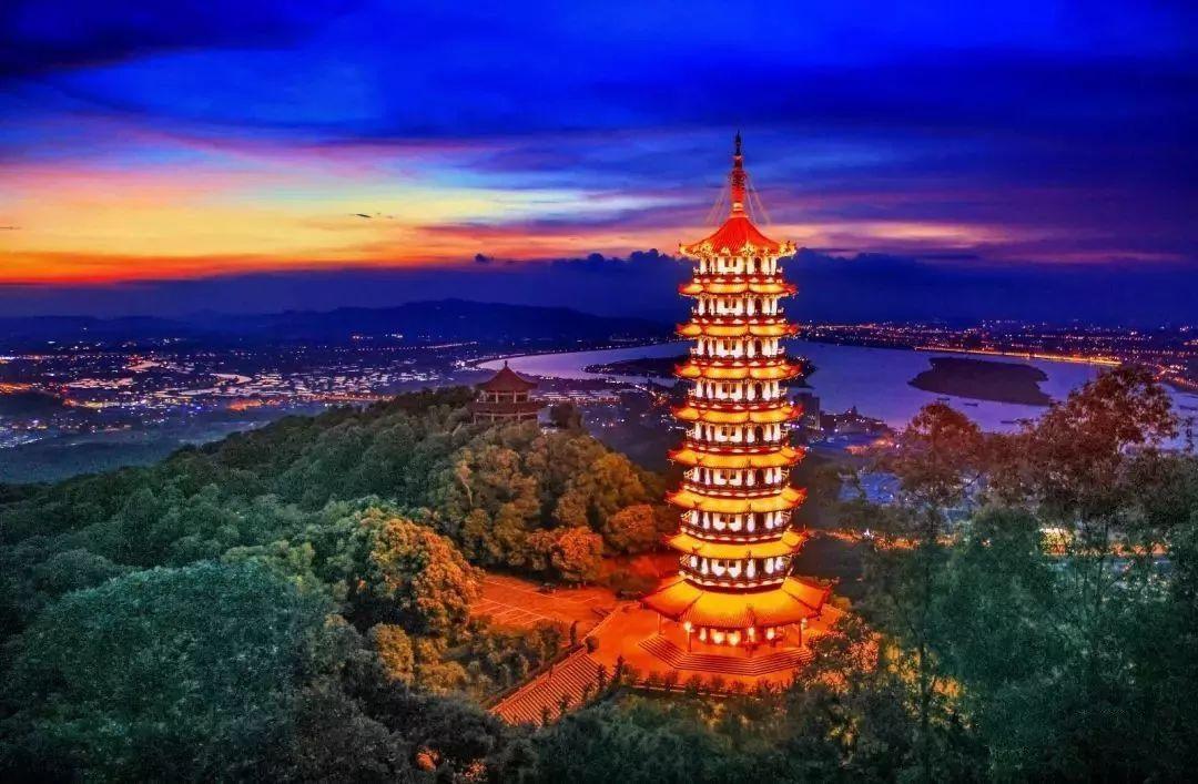 鹤山夜景,你认识几个地方呢